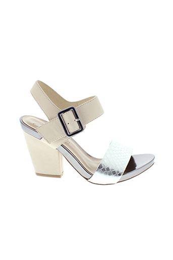 jb et martin sandales et nu et pieds femme de couleur beige