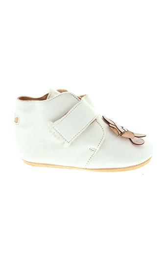 easy et peasy boots fille de couleur blanc