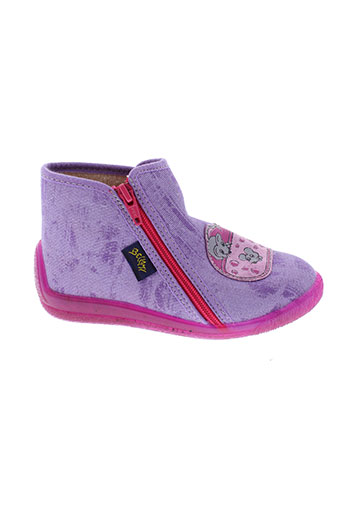 bellamy pantoufle fille de couleur violet