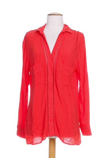 mamouchka chemises femme de couleur rouge