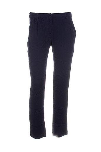 idano pantalons femme de couleur bleu