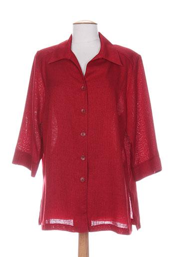 karting chemises femme de couleur rouge