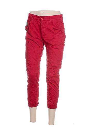 Pantalon 7/8 rouge MANILA GRACE pour femme