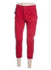 Pantalon 7/8 rouge MANILA GRACE pour femme seconde vue