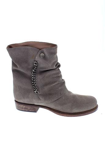 manila et grace boots femme de couleur gris