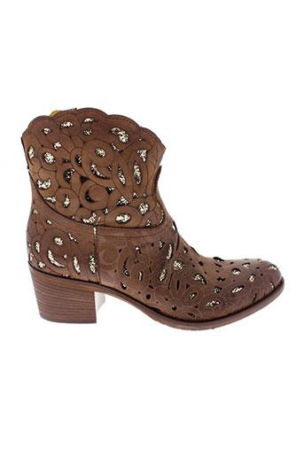 divine et follie boots femme de couleur marron