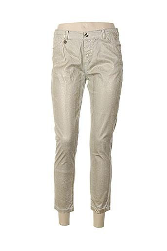 nana nucci pantalons femme de couleur beige