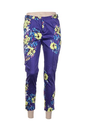 darling pantalons femme de couleur violet