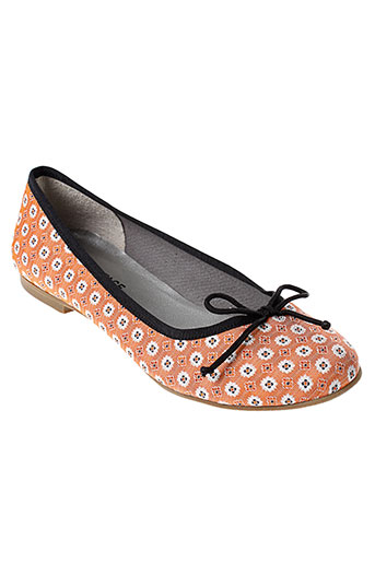 ippon et vintage ballerines femme de couleur orange