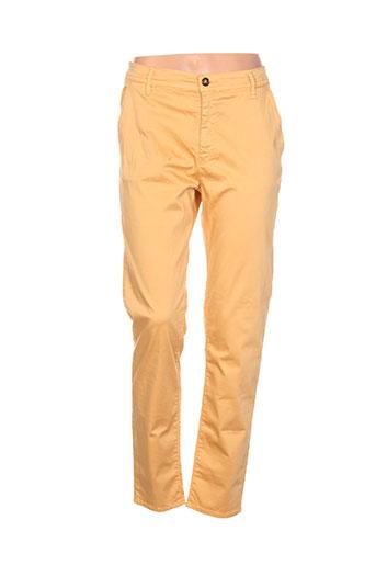 impact pantalons et decontractes femme de couleur orange