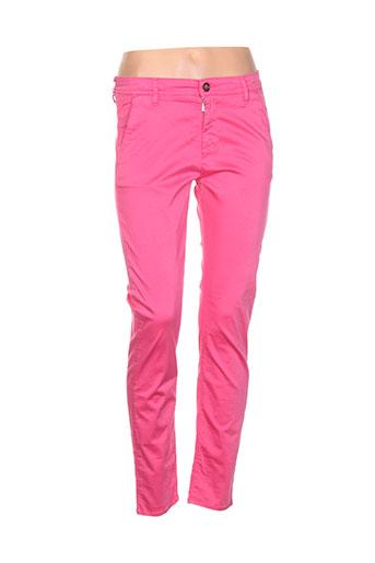impact pantalons femme de couleur rose