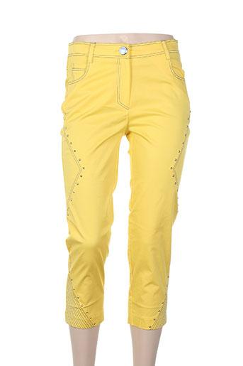 bleu d'azur pantacourts femme de couleur jaune