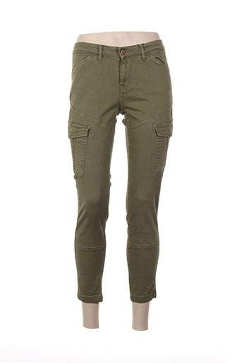 tiffosi pantalons et decontractes femme de couleur vert