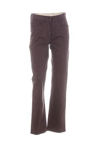 gardeur pantalons femme de couleur marron
