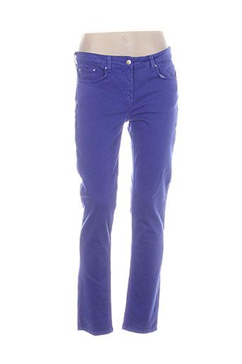 pablo gerard darel pantalons femme de couleur bleu