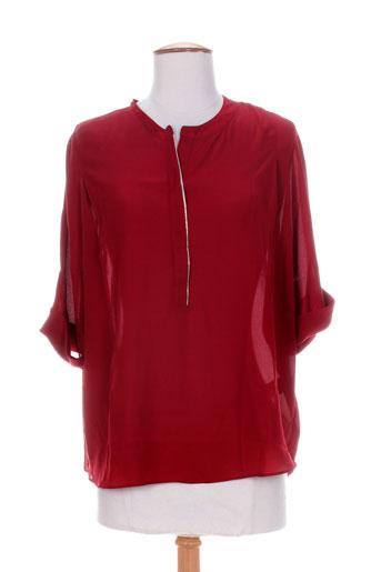 by monshowroom chemises femme de couleur rouge