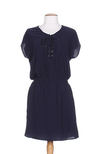 by monshowroom robes femme de couleur bleu