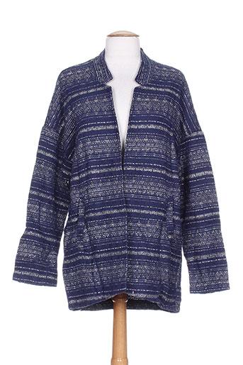 Veste casual bleu BY MONSHOWROOM pour femme