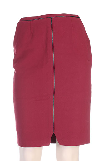 clo&se jupes femme de couleur rouge