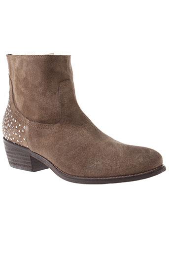 clo et se boots femme de couleur marron