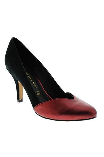 chocolate et schubar escarpins femme de couleur rouge