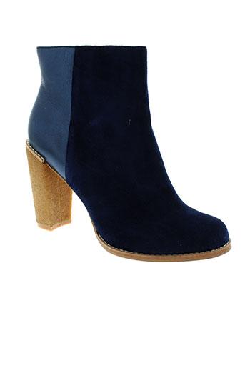 chocolate schubar chaussures femme de couleur bleu