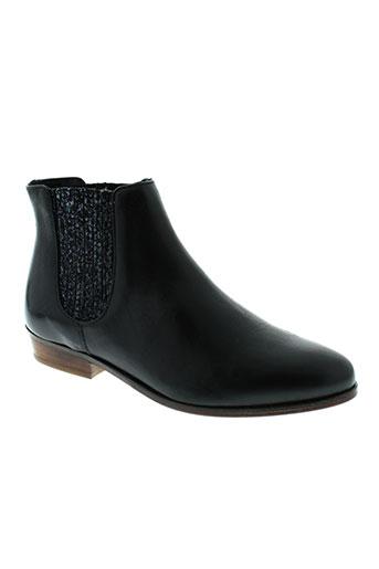bobbie et burns boots femme de couleur noir