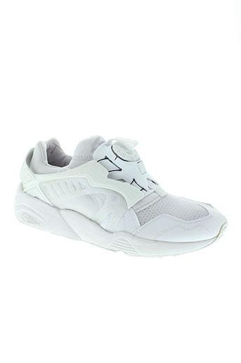 puma baskets homme de couleur blanc