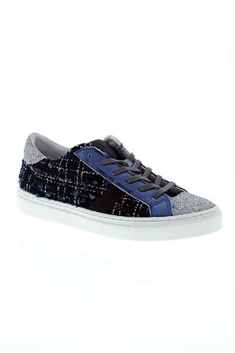 date chaussures femme de couleur bleu