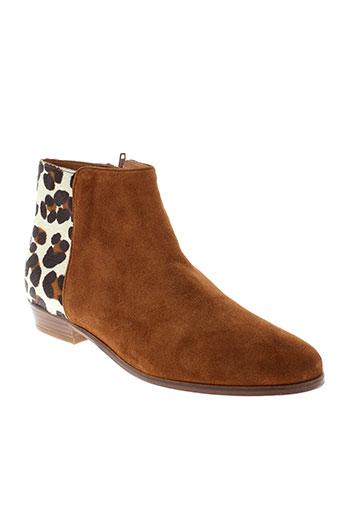 bobbies boots femme de couleur marron
