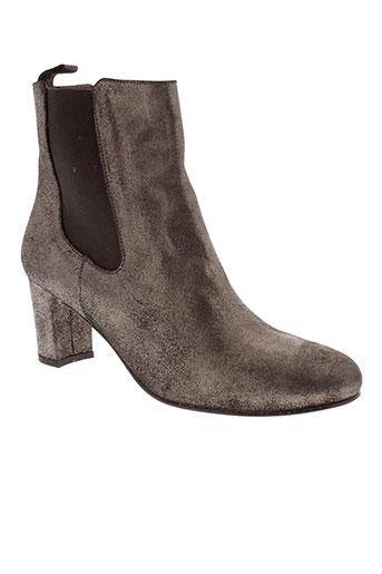 bensimon boots femme de couleur gris