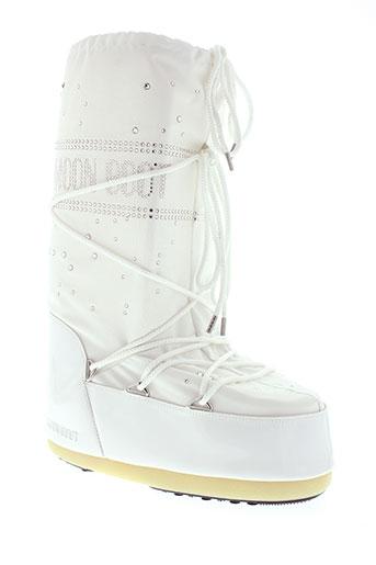 moon boot chaussures femme de couleur blanc