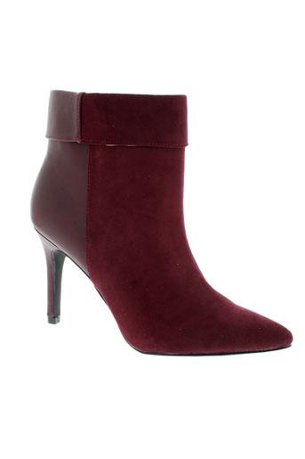 pieces bottines femme de couleur rouge