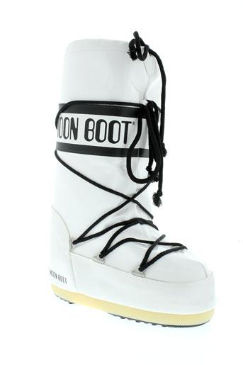 moon et boot bottes femme de couleur blanc