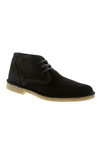 selected boots homme de couleur marron