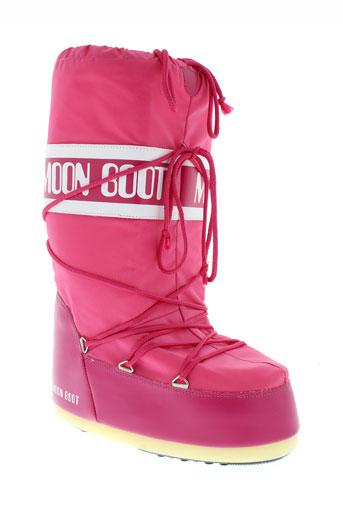moon et boot bottes femme de couleur rouge