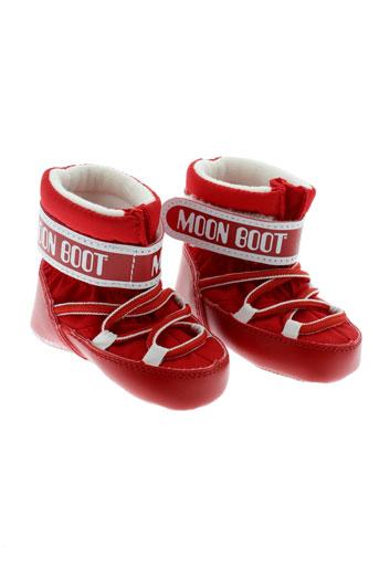 moon boot chaussures enfant de couleur rouge