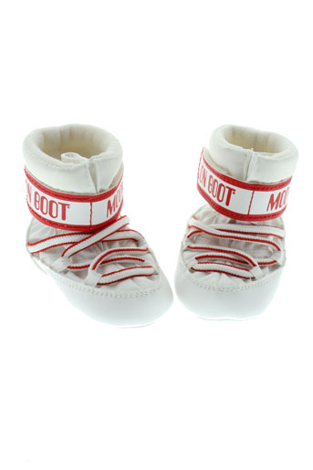 moon et boot bottes enfant de couleur blanc