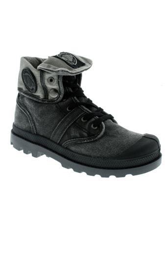 palladium boots fille de couleur gris