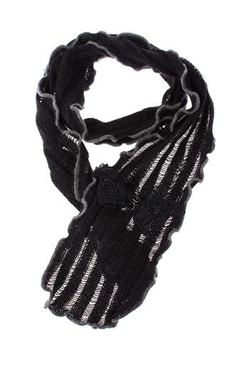 angiolo et frasconi echarpes et gants femme de couleur noir