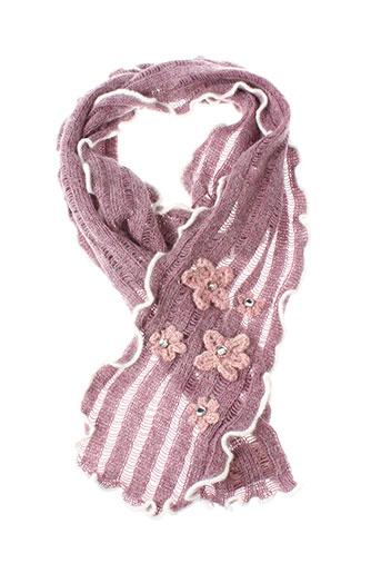 angiolo et frasconi echarpes et gants femme de couleur rose