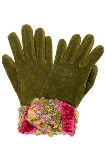 ganteb's accessoires femme de couleur vert