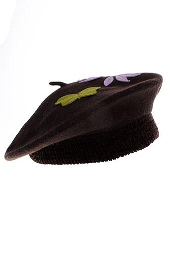 ane et thon chapeaux et bonnets femme de couleur marron