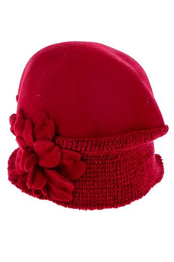 ane et thon chapeaux et bonnets femme de couleur rouge