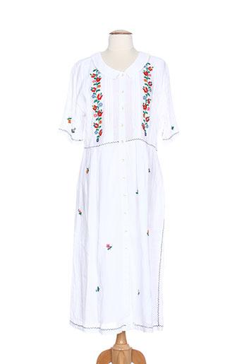 leon et harper robes et longues femme de couleur blanc