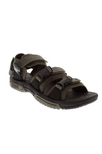 caterpillar sandales et nu et pieds homme de couleur marron