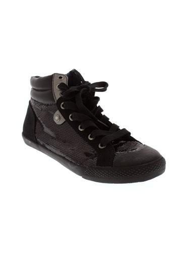 pepe et jeans baskets femme de couleur noir