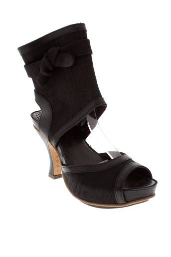 neosens sandales et nu et pieds femme de couleur noir