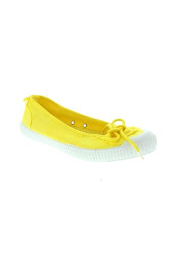 chipie ballerines femme de couleur jaune