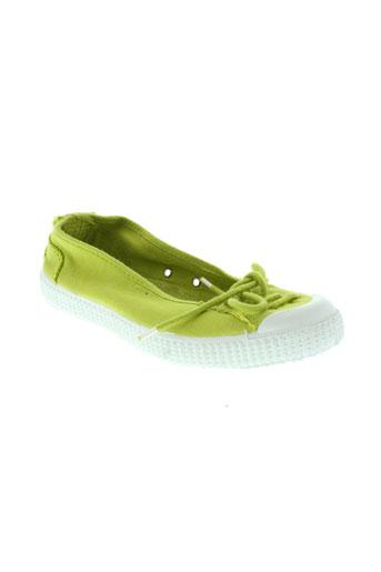 chipie ballerines femme de couleur vert